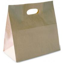 TAKEAWAY PAPER BAG WITH DIECUT HANDLE
